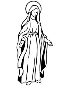 Religious Christmas Bible Coloring Pages - Mary, Mother of Jesus