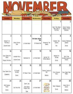 Monthly Menu, Monthly Meal Planning, Weekly Meal Planner, Menu Planner Printable, Monthly Plan, Weekly Menu, Breakfast Menu, How To Make Breakfast, Thanksgiving Dinner Menu