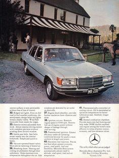 1975 Mercedes-Benz 280 SE Page 2 Aussie Original Magazine Advertisement Mercedes Benz S, Mercedes S Class, Classic Mercedes, Outdoor Survival Gear, Daimler Benz, Lakefront Homes, Benz Car, Car Advertising, Old Ads