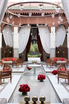 The lobby of the Royal Mansour, one of Marrakech's finest hotels via Morocco | Camille Styles