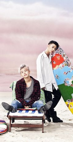 Daehyun and Yongguk - That's My Jam. That MV and song was super good... Their hair is so good!