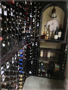 Our team was able provide client with the racking layout he both needed and wanted. It's inspiring in a lot of ways, given the perfect fit and design! Wine Art, Wine Cabinets, Wine Storage, Wine Cellar, Perfect Fit, Things To Come, Layout, Inspiration, Design