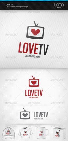 Love TV - Logo Design Template Vector #logotype Download it here: http://graphicriver.net/item/love-tv-logo/2393398?s_rank=16?ref=nesto