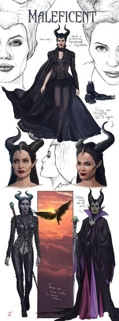 Maleficent Drawing, Maleficent Cosplay, Disney Maleficent, Disney Villains, Pixar Concept Art, Disney Concept Art, Fanart, Angelina Jolie Maleficent, Cat Art
