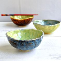 pinch pot bowls from Lee Wolfe Pottery