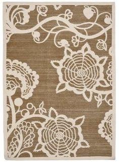kitchen- love this! Thomas O'Brien lace rug.