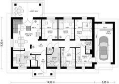 House Floor Plans, Planer, Sweet Home, Cabin, Flooring, How To Plan, Arquitetura, Kitchen Modern, My Dream House