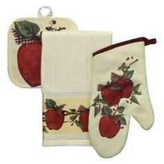 Apple Theme Spoons Spatula Utensils Hanging Wall Rack