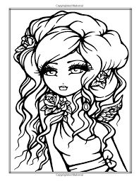 whimsy girls by hannah lynn coloring pages Blank Coloring Pages, Colouring Pics, Printable Coloring Pages, Coloring Books, Doll Face Paint, Hannah Lynn, Art Impressions, Digital Stamps, Colorful Pictures