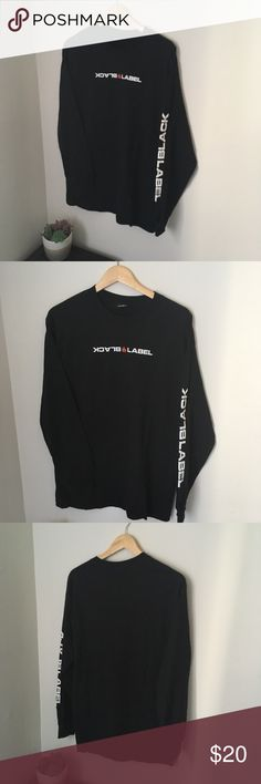 b60d1e8ade02da Black and white black label long sleeve shirt Black and white black label  skateboard shirt Excellent