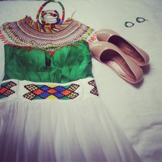 My zulu wedding dress. South African inspiration.