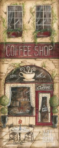 Coffee Shop Art Print by Kate McRostie at Art.com