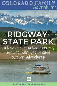 Ridgway State Park near Montrose CO is one of Colorados best kept secrets. For family outdoor adventure in a magical setting. biking Where to camp with kids in Colorado. Easy hikes in CO Snowshoe, Rafting, Snowboard, Ridgway Colorado, Montrose Colorado, Colorado Hiking, Colorado Lakes, Red River Gorge, Paradise Travel