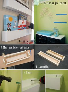How to make hanging box shelves