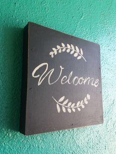 Welcome ....... Hand Painted wood sign by Studio11Online on Etsy