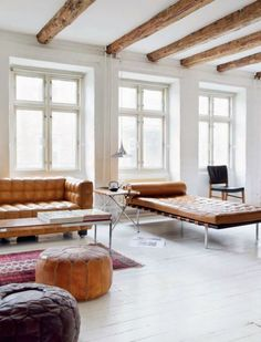 Pinkog Cozy Interior Design With Salvaged Wood, Trendy Loft Residing In Scandinavian Style Modern Interior Design, Interior Design Inspiration, Nordic Interior, Style Inspiration, Nordic Home, Interior Exterior, Living Room Inspiration, Living Room Interior, Interiores Design
