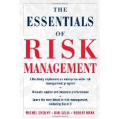 http://baotoanvon.com/books/0071429662.isbn The Essentials of Risk Management (Hardcover) , risk management  Risk management is no longer confined solely to risk management specialists. Stakeholders ranging from employees to investors must understand how to quantify the tradeoffs of risk against the potential return. The failure to understand the essential nature of risk can have devastating consequences. Globally renowned risk and corporate governance experts Michel Crouhy, Dan Galai, and…