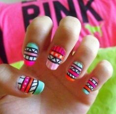 Aztec nails my obsession