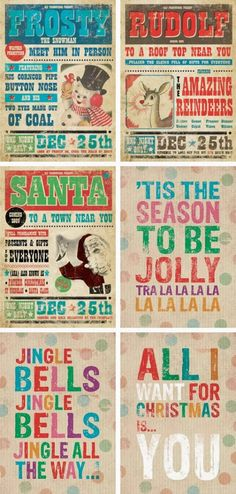 Christmas Trends For 2014 ~ 24 Cottonwood Lane Vintage Christmas Posters