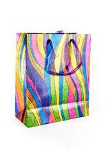 Whimsical Stripes Gift Bag, Medium, Multi-color