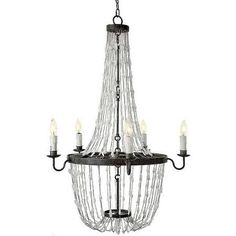 Like a prismatic, powerful waterfall, rock crystals overflow from this Hollywood Regency chandelier. Matte black metal, in perfect circles, holds. Chandelier Pendant Lights, Modern Chandelier, Chandeliers, Rock Lamp, Vintage Chic, White Quartz Crystal, Light Em Up, Shabby, Residential Lighting
