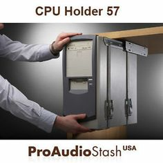 Awesome idea for getting the tower off the desk.  Universal Under Desk Sliding CPU Holder Computer CPU 57 | eBay