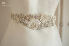 Wholesale Bridal Sashes & Belts - Buy Latest Fashion Gorgeous Custom Made Rhinestone Beaded Hand Made Flower Wedding Dress Sash Bridal Sash Belt, $69.0 | DHgate