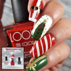 Merry merry Christmas nails!