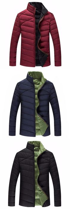 982bca822da US 45.66 Plus Size 6XL Winter Outdoor Sport Thicken Warm Loose Stand Collar  Padded Jacket for