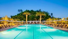Solage Calistoga Resort: Take a refreshing dip and linger poolside with the Palisades Mountains as an idyllic backdrop. Rates from $320/night. Email info@sodynamite.com to book this deal!
