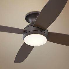 "our bedroom ceiling fan- also in sawyer's room 52"" Casa Elite Oil-Rubbed Bronze LED Hugger Ceiling Fan"