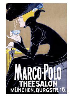 Marco Polo Tea Salon Lámina giclée en AllPosters.es