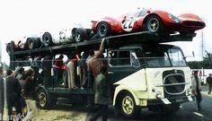 Fiat 645 N2 Passo Lungo Bisarca LE MANS 1967 Trasporto Ferrari 1 43 built_04