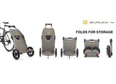Travoy folds for storage - Just ordered mine... can't wait for it to arrive. Update: I love this trailer. It stores easily and is super smooth on the back of my bikes. Grocery shopping made easy.