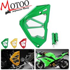 Motoo-free shipping  CNC Motorcycle Front Sprocket Chain Guard Protection Cover Accessories Left Engine For Kawasaki Ninja300 #Affiliate
