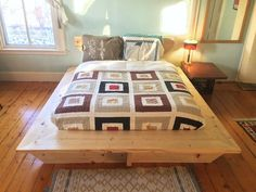 A Modern Platform Bed, made with hand-held power tools and framing lumber.