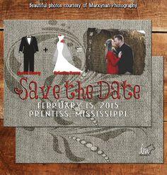 Save the Date Card   Wedding Card   Bridal Card   DM3041