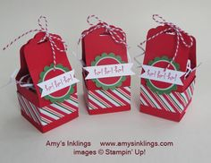 Stampin' Up! Scalloped Tag Topper punch treat box
