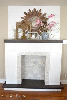 | DIY Faux Fireplace {How I Built Our Fireplace} | http://lovethetompkins.com