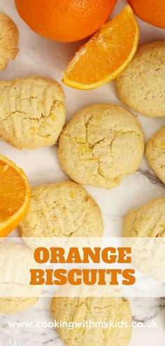 Orange biscuits are a delicious, simple cookie kids will love making (and eating!) We've taken an easy biscuit recipe and added a pop of orange flavour, taking the humble butter biscuit to the next level. #orange biscuits #cookies #recipe #easy #baking #butter biscuits #easy recipe #baking with kids