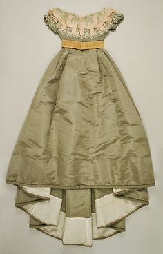 Ensemble (dress with day and evening bodices), 1865-67   In the Swan's Shadow