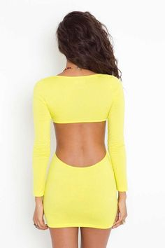 Neon Cutout Dress