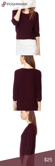 Wilfred Balzac Sweater Maroon color, size XXS, will fit up to XS. Some pilling as shown. No Trades! Aritzia Sweaters