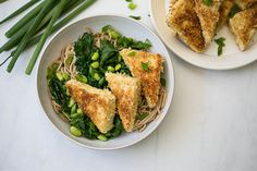 Panko Tofu with Kale Soba Salad by Cook Smarts