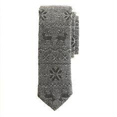 Japanese cotton reindeer tie - ties & pocket squares - Men's New Arrivals - J.Crew