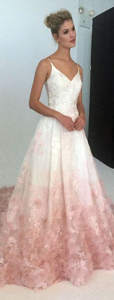 Blush Pink Lace Wedding Dress - Informal Wedding Dresses for Older Brides Check more at http://svesty.com/blush-pink-lace-wedding-dress/