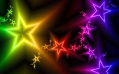 Wallpapers For > Neon Star Wallpaper Rainbow Wallpaper, Star Wallpaper, Colorful Wallpaper, Full Hd Desktop Wallpapers, Pretty Wallpapers, Wallpaper Desktop, Rainbow Star, Rainbow Colors, Rainbow Rocks