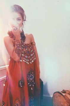 ╰☆╮Boho chic bohemian boho style hippy hippie chic bohème vibe gypsy fashion indie folk the . Style Hippie Chic, Ethno Style, Gypsy Style, Bohemian Style, Moda Fashion, Womens Fashion, Gypsy Fashion, High Fashion, Looks Style