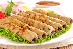 Made with chicken mince, cream and a distinct blend of spices chicken reshmi kebabs are delicious and melt in the mouth tender.