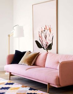 How to Apply the Proper Pink Living Room Decor Ideas - Pinky living room thoughts can be very pleasant to have. Lamentably, to produce the correct pink living room decor thoughts isn't something simple. Living Room Sofa, Living Room Furniture, Living Room Decor, Apartment Living, Furniture Stores, Furniture Buyers, Furniture Design, Pink Living Rooms, Couch For Bedroom